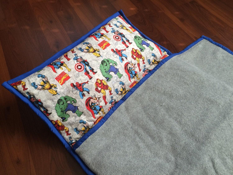 Superhero Toddler Nap Mat All In One Sleep Pad Kids Travel
