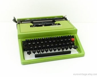 Vintage Green Mercedes Super T Typewriter Vintage Working Typewriter
