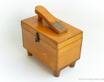 Vintage Wooden Shoe Shine Box Shoeshine Box 60s 70s