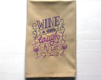 Wine themed kitchen towel