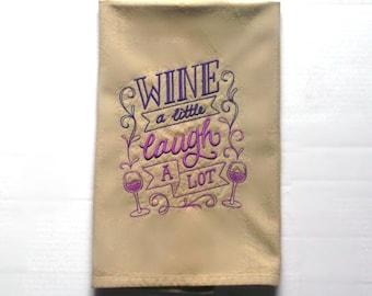 Wine themed kitchen towel