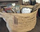 Painters & Artists Supplies Canvas Storage Bag  - Kitchen - Houseware - Artist - Painters Bag - Gift - Farmhouse - Studio Bag - Garden