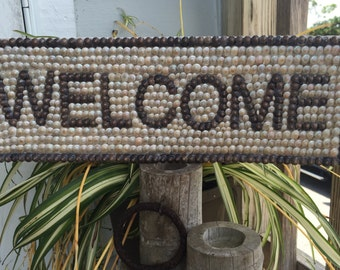 Nautical Shell Welcome Sign