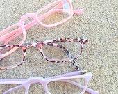 1980s Vintage SUNGLASSES SET.....instant collection. cat eye lens. retro. set of 3. readers. vintage glasses. 1970s. pink. purple. leopard