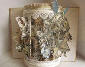 """Alice in wonderland altered book  """"Through the Looking Glass """""""