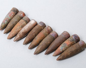 Lot of 10 Vintage original military bullets.