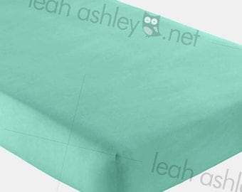 Fitted Crib Sheet - Solid Mint - fcs