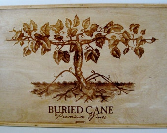 Buried Cane Wines Serving Tray