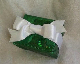 "White Double Faced Satin Wire Ribbon ...1"" X 5 yards"