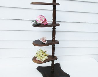 Vintage Wooden Plant Stand, Display Stand, Wood Plant Stand, Tiered Stand, Knick Knack Shelf, Hat Display