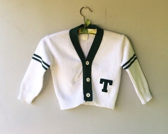 T MONIGRAM  Kids Cardigan Sweater // 4T