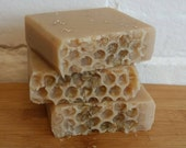 Oatmeal & Honey Soap 4 oz., Honey soap, Handmade soap
