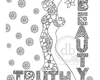 Good energy coloring poster - Truth and Beauty