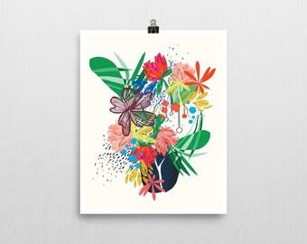 HONDURAS inspired floral art print