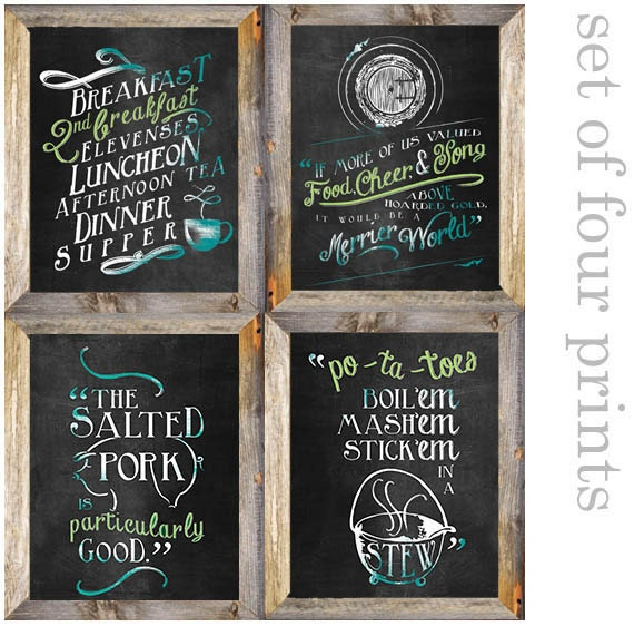 Printable Hobbit Lord Of The Rings Second Breakfast Valued