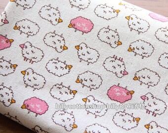 w604_55 - Alpaca fabrics - cotton linen fabrics - Half Yard ( pink )
