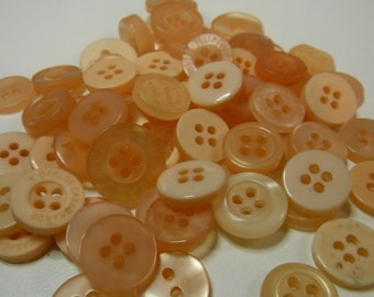 400 Peach Buttons Round Medium Multi Sizes Crafting Sewing Bulk Buttons