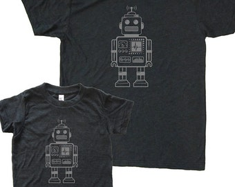 Matching Father Son Shirts, Robot T shirts, Father's Day gift, new dad shirt, father daughter, gift for dad, gift for dad from son, kids