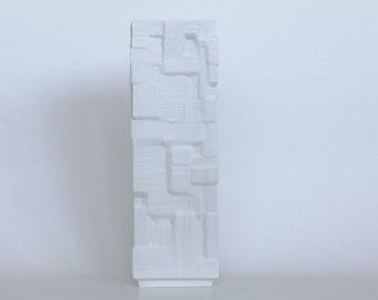 Vintage XL White Porcelain 'Ice' Vase- Heinrich
