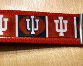 Indiana University Inspired Key Fob/Wristlet on Red