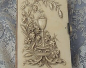 Antique French Celluloid Parishioner Prayer Book / French Missel / Celluloid Prayer Book / Vintage French Missel / Paroissien / Communion