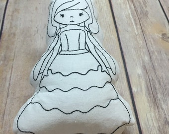 Doodle Pillow Washable Color Your Own Pillow Doodle Doll Princess Stuffie