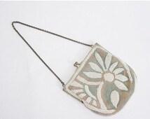 25% OFF SALE / 1920s vintage purse / beaded antique purse / He Loves Me