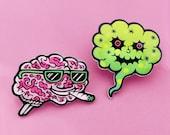 Brain on Drugs lapel pin set