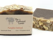 Pumpkin Oatmeal Handcrafted Artisan Soap with Cocoa Butter Cold Process Bath Bar 6 oz Goat Milk Soap Luxury Bar Soap Handmade with Silk