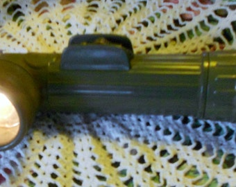 Old vintage army flash light 70's