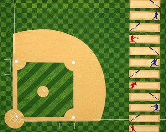 Robert Kaufman - Sports Life - Baseball Diamond - Full Yard Panel