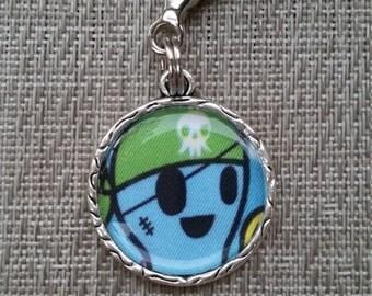 little e clip fob. Sea Amo. Pirate octopus. Tokidoki key fob. necklace charm