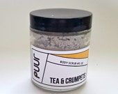 Tea and Crumpets Body Scrub Sea Clay Exfoliating Scrub with Lavender and Bergamot VEGAN Paraben Free Scrub 4oz