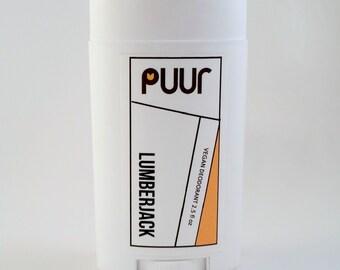 Lumberjack Natural Deodorant VEGAN Men's Deodorant Aluminum Free Deoderant with Shea Butter and Kaolin Clay 2.5 oz Shea Butter Body Deo