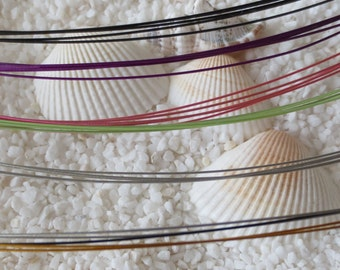 Stainless Steel 5 strand Neck Wire - 18 inches - CHOICE OF COLOR - 1 pc