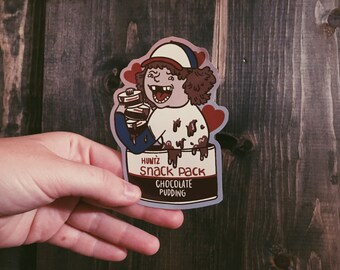 ADD ON Pudding Loving Dustin Sticker // Stranger Things Sticker (or pack of 5)