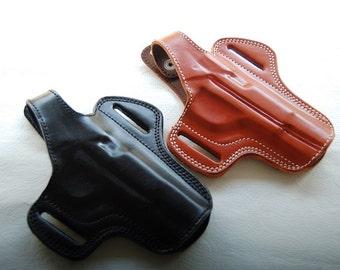Tokarev TT-30 TT33,TTC,M57,M70A Belt Leather Custom Holster Tan Black R.H