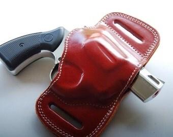 Colt Detective Special Colt Police Positive Belt Slide Leather Holster Black Tan