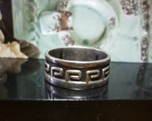 Vintage Greek Key sterling Ring