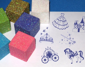 Princess Stamp Set Children's Craft Kit for little girls Princess Play Set Paper Crafts for Little Girls Personalized Christmas Gift Set