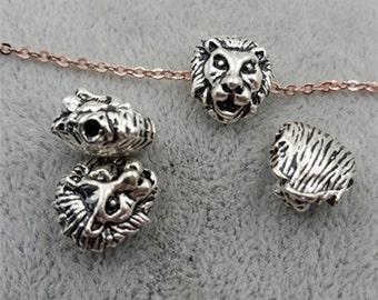 ON SALE-50 pcs men's jewelry lion head  beads-cool-T0748yin