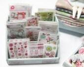 Dollhouse Miniature Tilda Style Display of Craft Packs