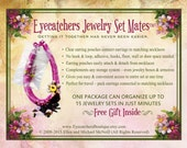 JEWELRY SET LOVERS!  New and clever way to store your Jewelry Sets-Eyecatchers Jewelry Set Mates(tm) - keeps earrings with matching necklace