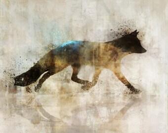 Fox Walk 01: Giclee Fine Art Print 13X19