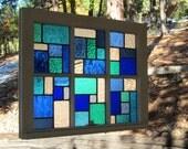 Blues Reclaimed Wood Window