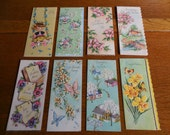 Pretty Lot of 8-- Unused Vintage Greeting Cards Glitter