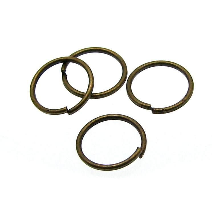 8mm jump rings 100 antique bronze open jump rings 8mm x 8mm