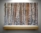 30x48 Large Room Art Multi Panel Metallic Aspen/Birch Tree Scene by MyImaginationIsYours