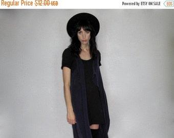 HOLIDAYSALE Silky Cardigan - Purple Neck Tie Scarf 60s Longline Drape VTG - Womens One Size