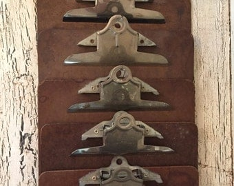 5 Vintage Clipboards - Standard and Legal Size - Retro Office or Great for Art Display